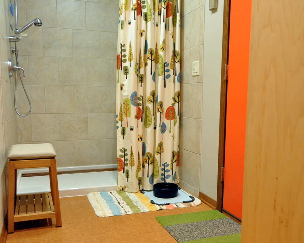 Pet shower and mudroom were part of the interior renovation on a ranch home in Madison, WI by TDS Custom Construction.