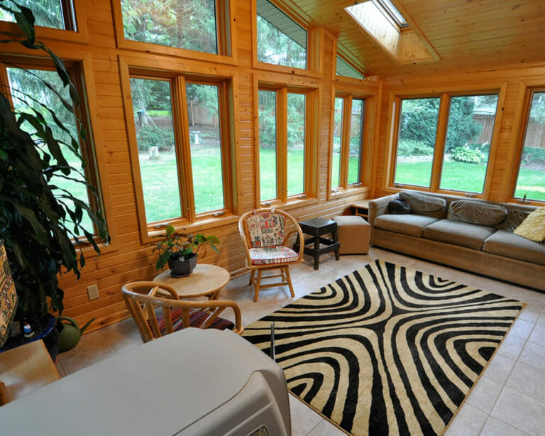 TDS Custom Construction completed an interior renovation and facelift of a ranch house with remodeled kitchen, two baths and an updated sunroom in Madison, Wisconsin.
