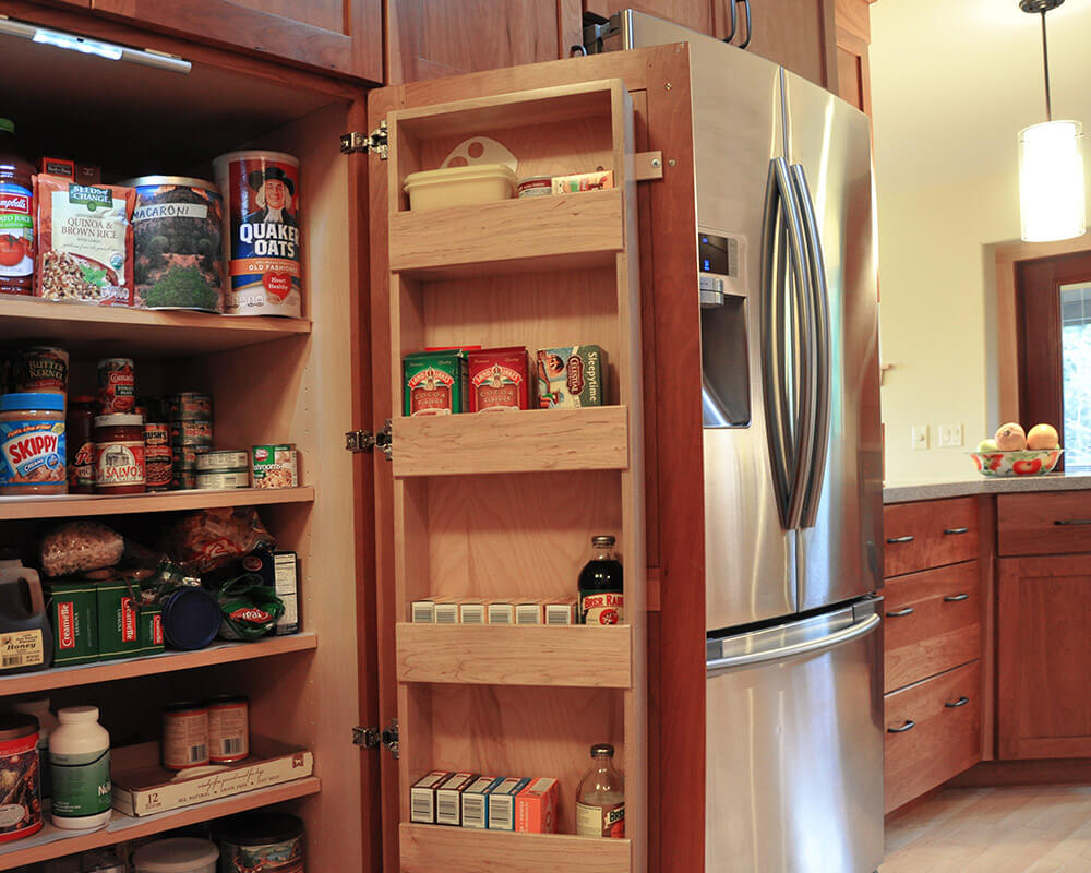 Custom cherry cabinets using Universal/Aging-in-place design principles by TDS Custom Construction in Oregon, WI.