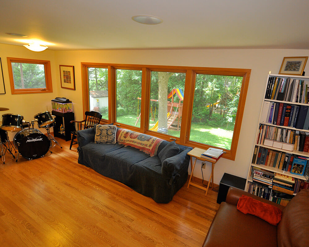 Historic preservation and home addition that functions as a family room to a historic home in Madison, WI.