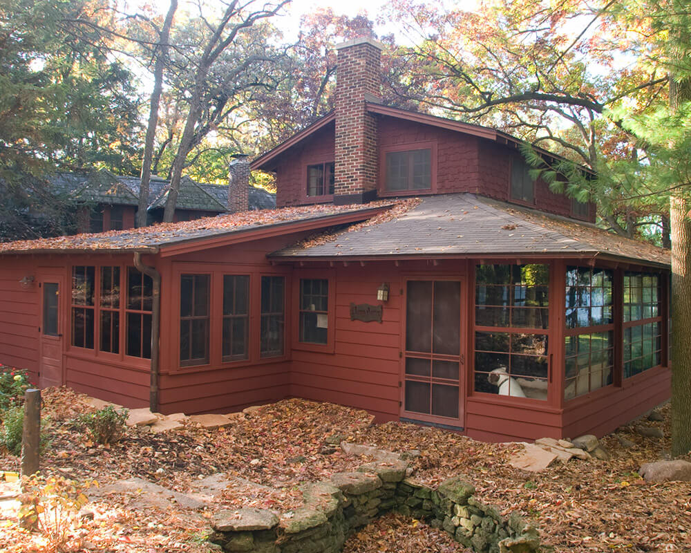 Historic renovation/preservation of a 1911 lakeside cottage in Monona, near Madison.