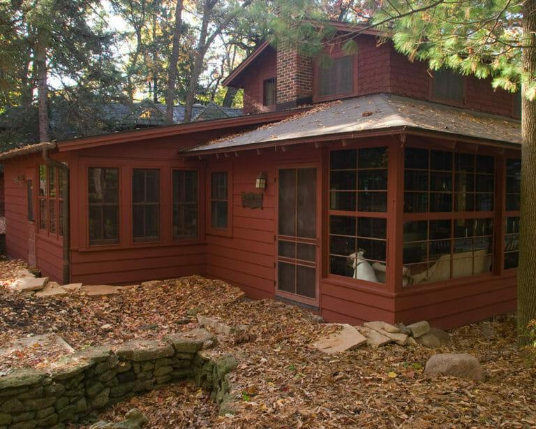 Residential historic renovation/restoration on the shore of Lake Monona by TDS Custom Construction.