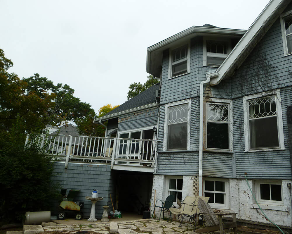 Before TDS Custom Construction began restoration of this historic preservation project in Madison, WI.
