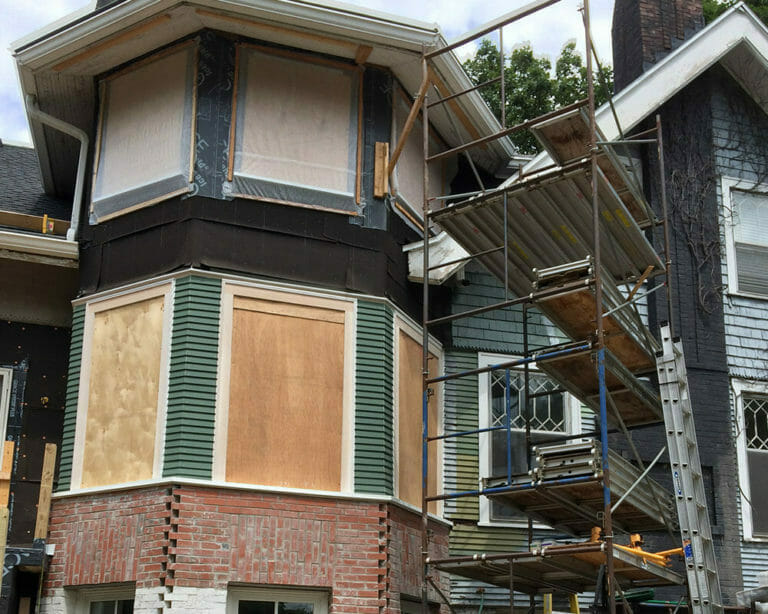 Progress on this historic preservation home in Madison WI by TDS Custom Construction.
