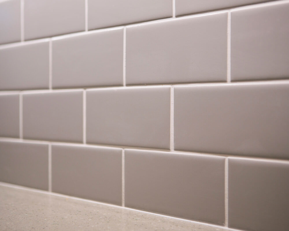 Subway tile used in midcentury modern inspired kitchen remodel in Madison, Wisconsin.