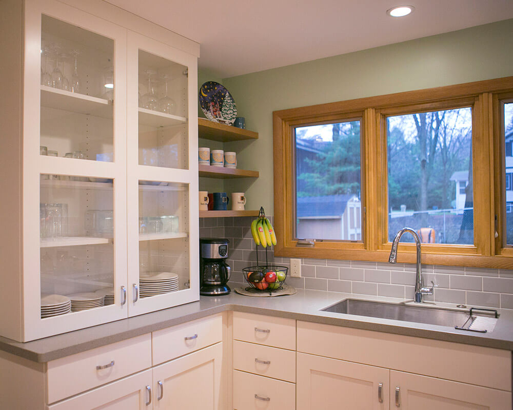 Custom cabinetry in midcentury modern inspired kitchen remodel by TDS Custom Construction.