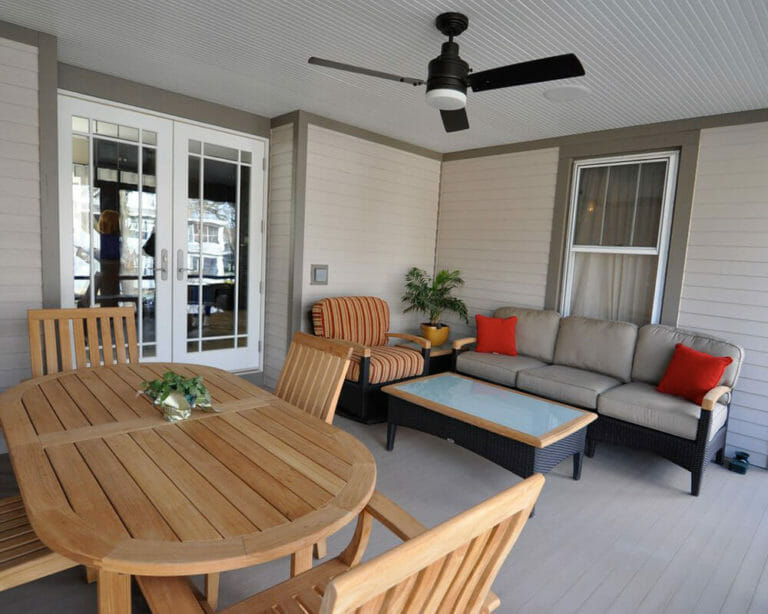 Remodeled screened-in porch in Madison, Wisconsin