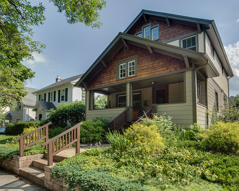 Custom design/ built home with second story addition by TDS Custom Construction, Madison, WI.