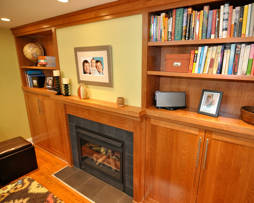 Custom cabinetry for a whole house remodel for a colonial home in Maple Bluff, Wisconsin by TDS Custom Construction.