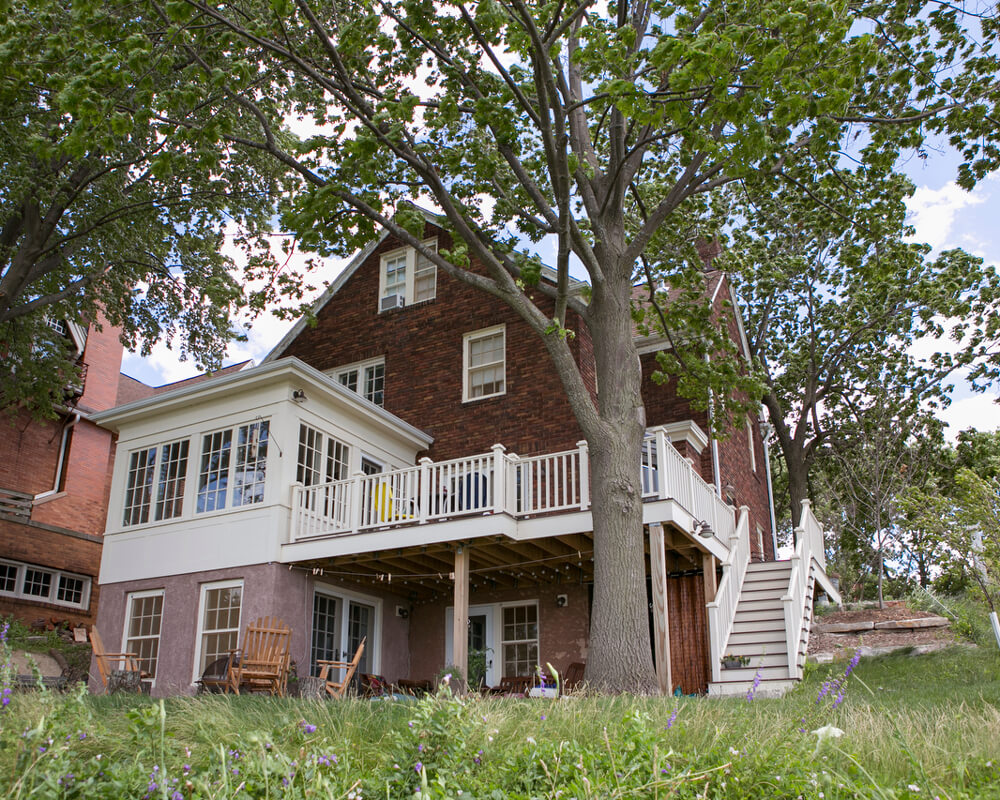 Historic restoration of a Madison, Wisconsin 1920's lakeside home.
