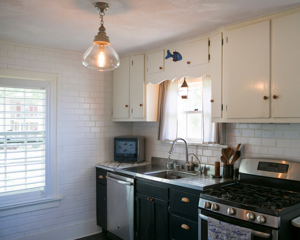 Updated original kitchen as part of a historic restoration in Madison, Wisconsin, by TDS Custom Construction.