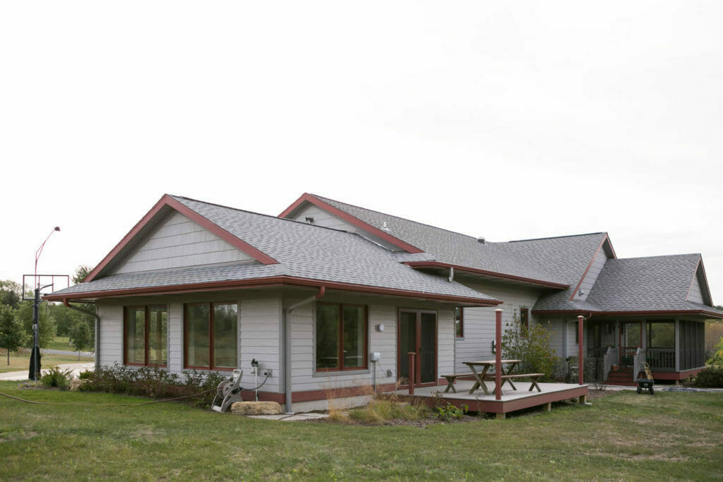 Pool house addition to this universally designed home in Oregon, WI.