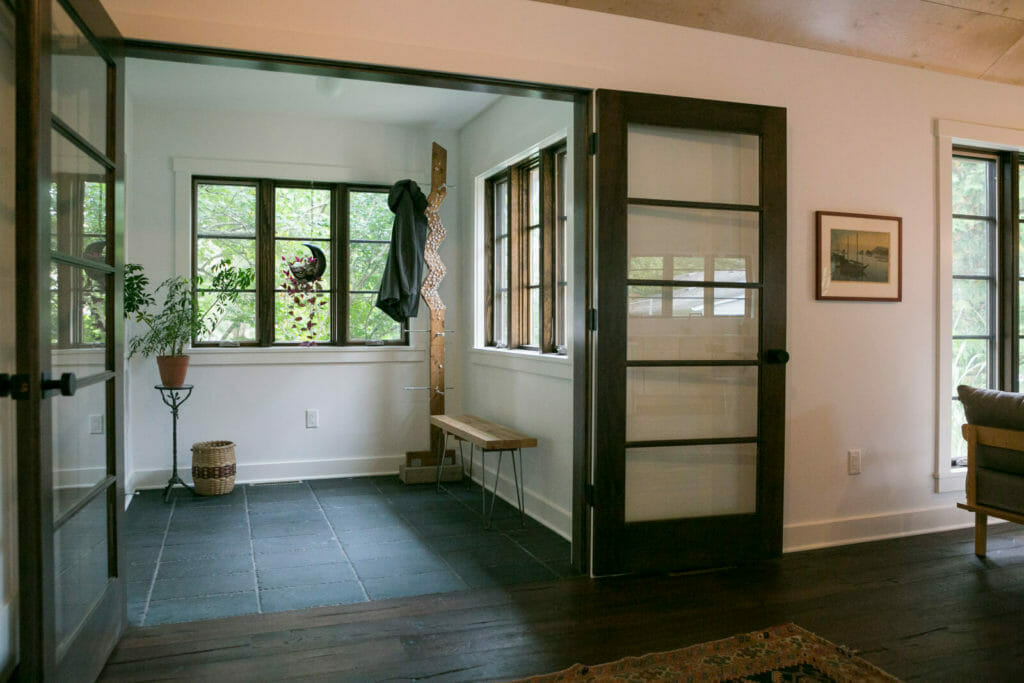 A simple yet modern entryway in whole house remodel in Monona, Wisconsin by TDS Custom Construction.
