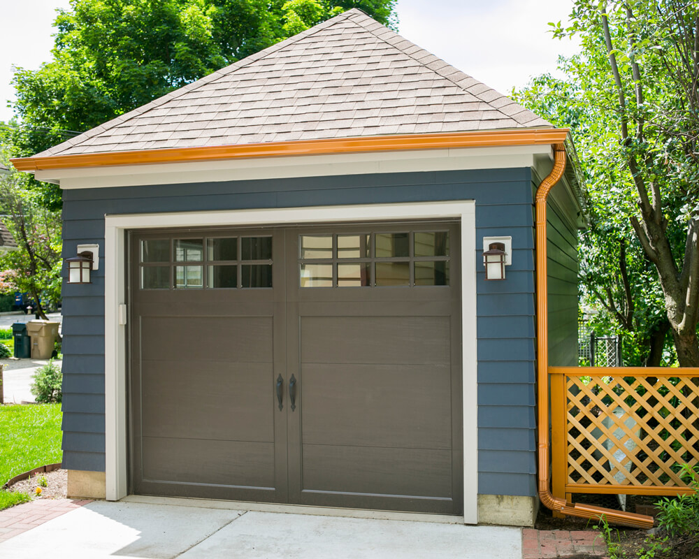 Charming, historically accurate, and practical small garage built by TDS Custom Construction in Madison, WI.