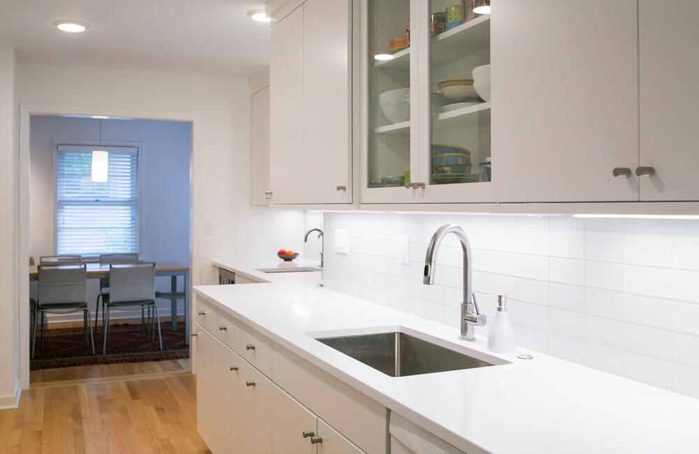 A updated white kitchen remodel by TDS Custom Construction.