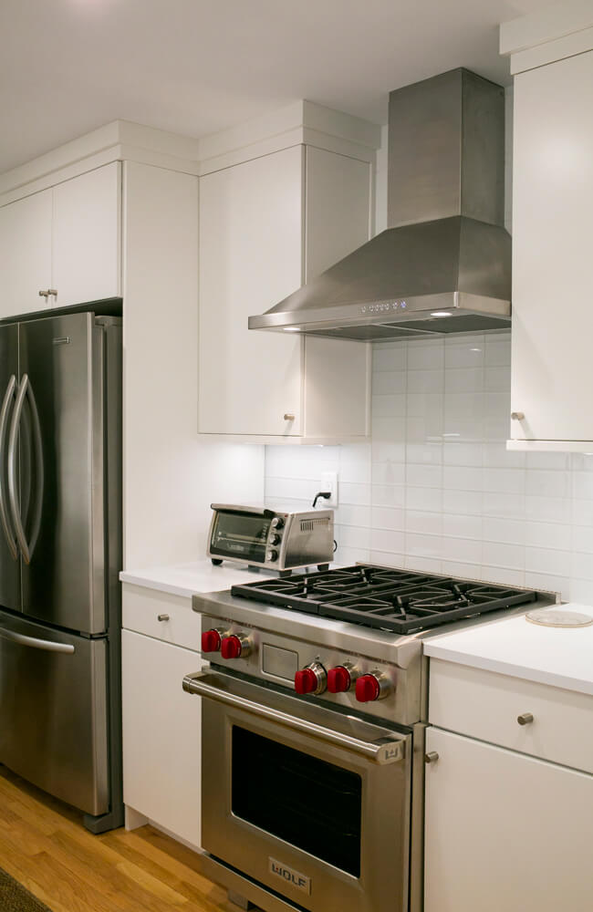 A white kitchen remodel done by TDS Custom Construction in Nakoma, Wisconsin.