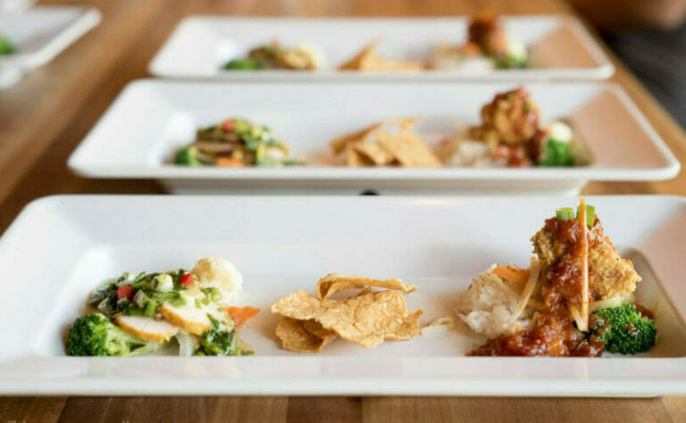 Plate of appetizers