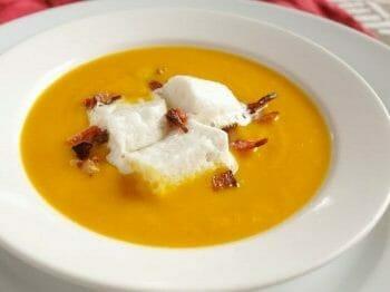 Creamy winter squash soup