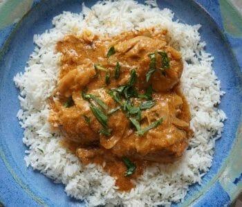 Creamy Indian cashew chicken