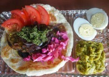 Pita platter at Noosh
