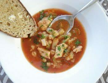 Harissa chicken soup