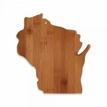 Wisconsin shaped cutting board