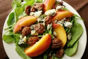 Peach and pecan salad