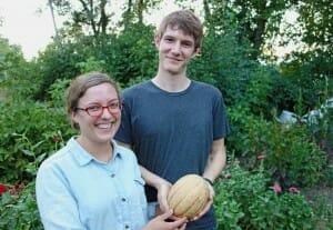 Farmers holding butterbean squash