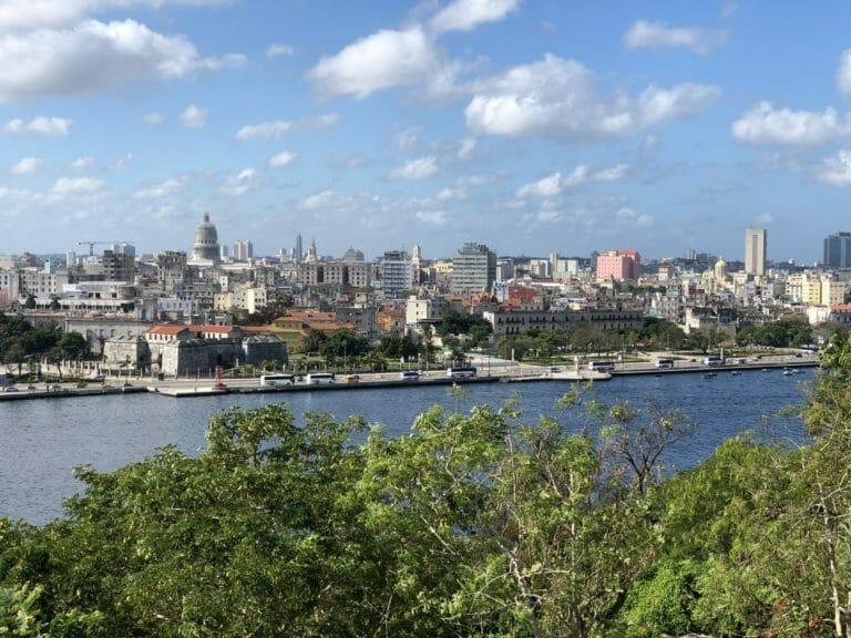 The view from Cristo de la Habana