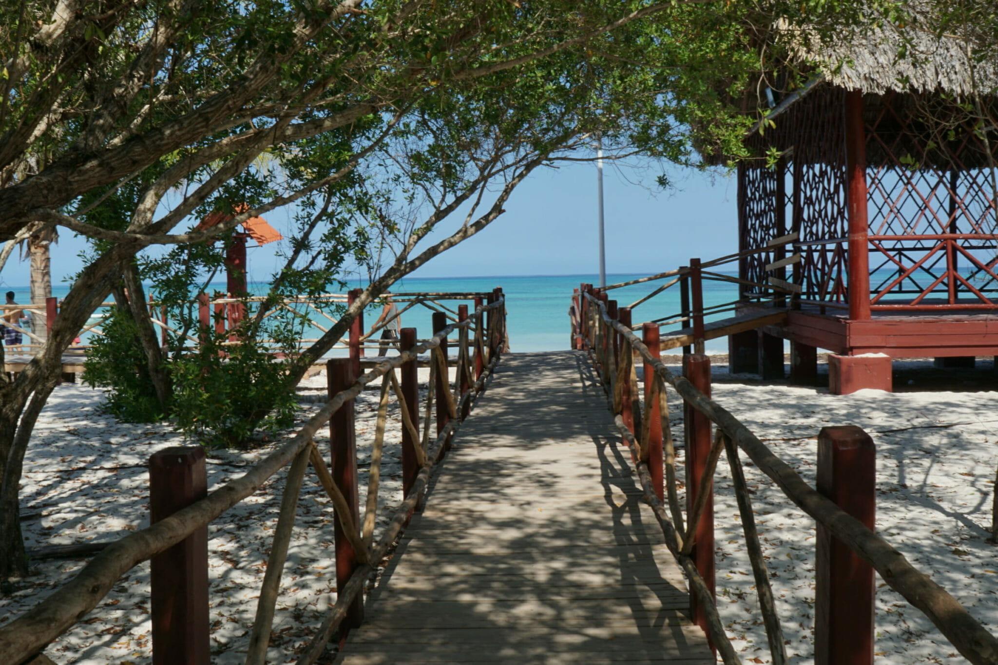 Walkway to ocean view