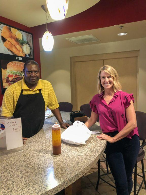 Mahamadou Tunkara owner of Kingdom Restaurant with Otehlia Cassidy owner at Madison Eats