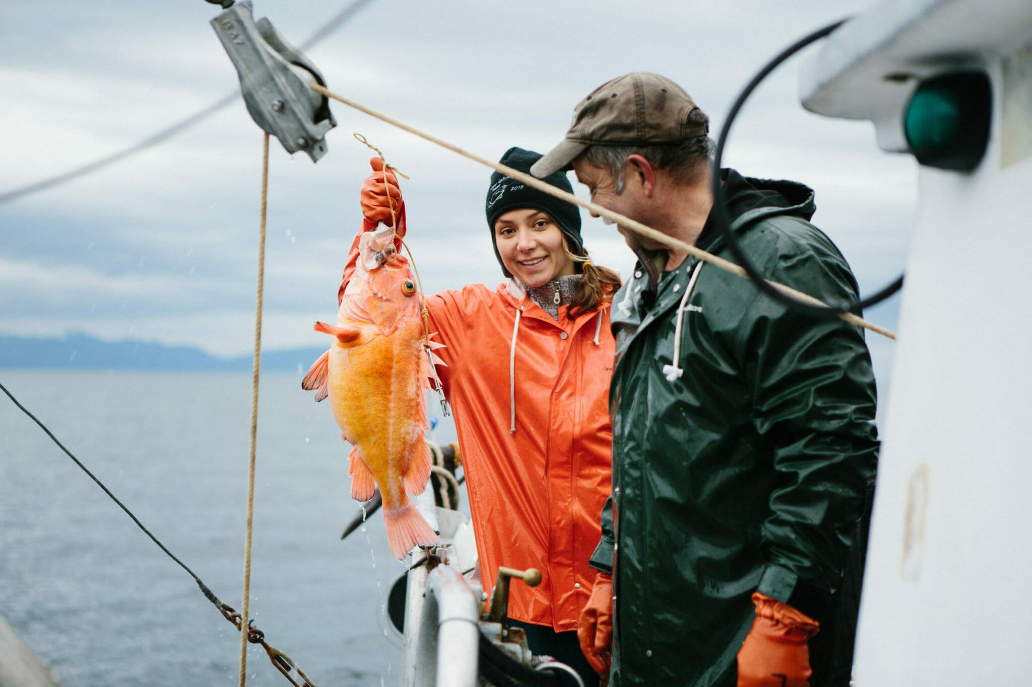 Photo of people fishing in Alaska