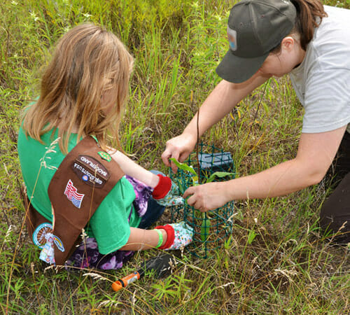 Girl Scout at Nature Center